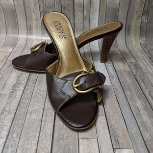 Franco Sarto Brown Kitten Heel 6